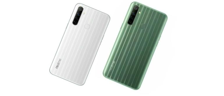 Narzo 10 белый и зеленый