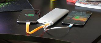 Портативный аккумулятор Power Bank на солнечных батареях